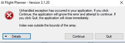 Error when importing