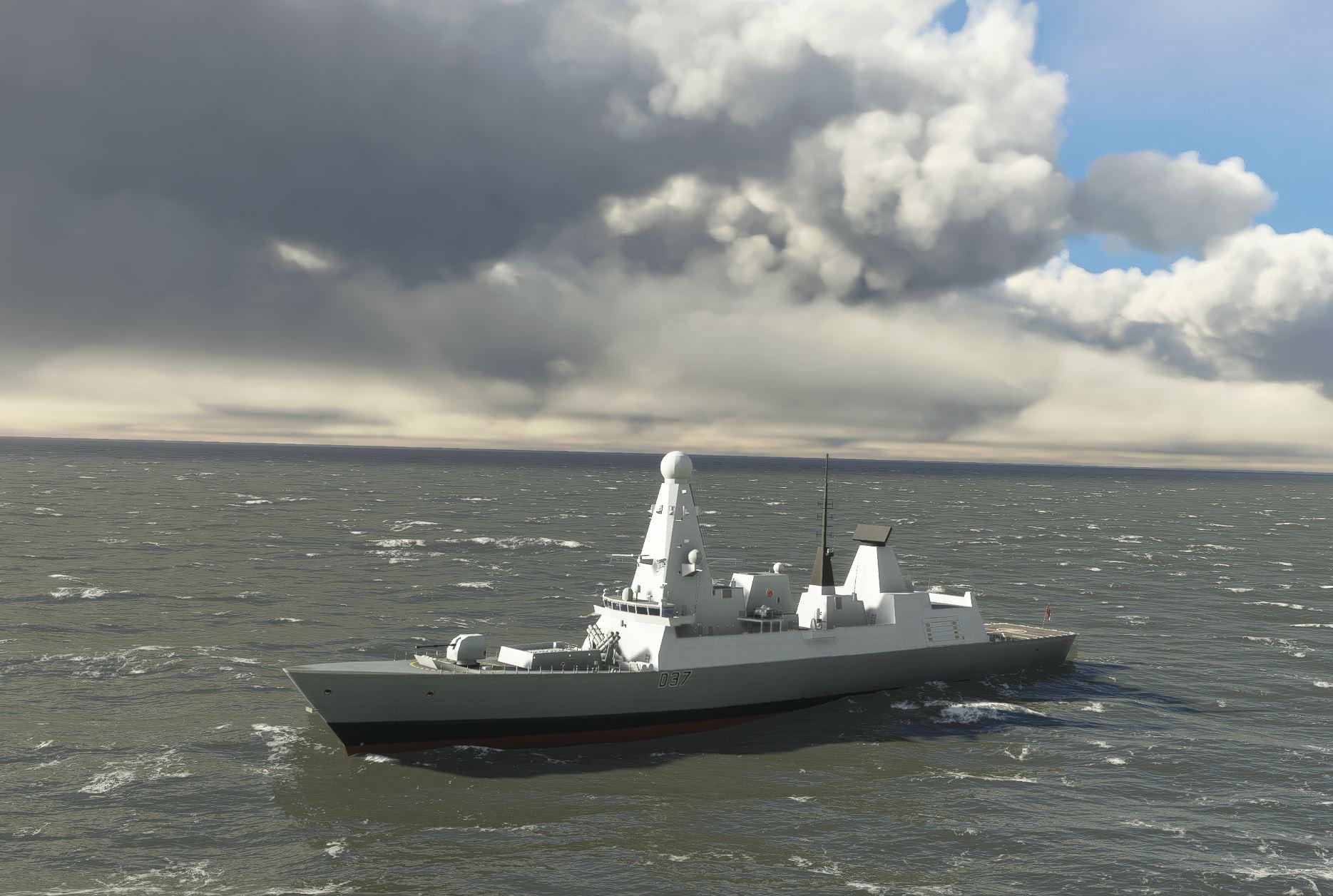 Destroyer Royal Navy MSFS Flight Simulator Ship.JPG