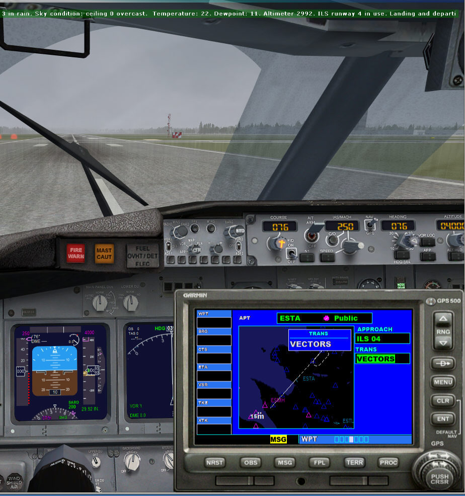 FSXA - ILS is installed but ATC only gives Visual  Even in <1mile